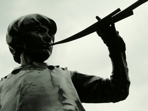 Peter Pan Statue - by drumminhands